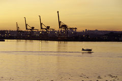 Industrial sector- Vancouver, Canada. Royalty Free Stock Photo