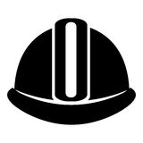 Industrial security equipment isolated icon in black and white c Stock Photography