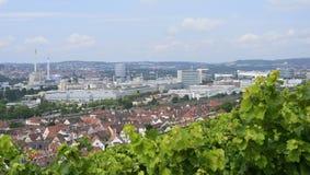 Industrial settlements and vineyards, Stuttgart Stock Image