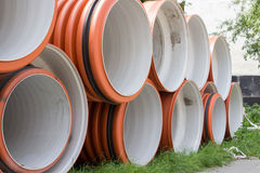 Industrial sewer pipes Royalty Free Stock Image