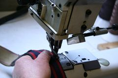 Industrial sewing Stock Photography