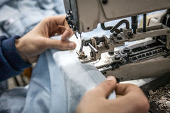 Industrial sewing machine Royalty Free Stock Photos