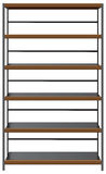 Industrial shelving, with steel shelves Stock Images