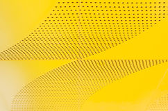 Industrial shiny metal yellow list on texture background. Stock Photography