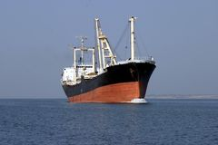 Industrial ship. Royalty Free Stock Image