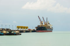 Industrial ship in the harbor. Thailand Royalty Free Stock Photo