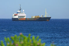 Industrial ship in Mediterranean sea Royalty Free Stock Photo
