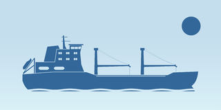 Industrial ship royalty free illustration