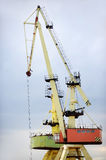 Industrial shipping cranes for containers Stock Photo