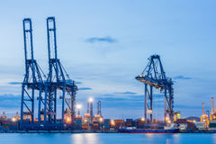 Industrial shipping port Royalty Free Stock Photography