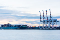 Industrial shipping port Royalty Free Stock Photo