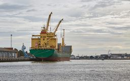 Industrial ships in port Royalty Free Stock Photo