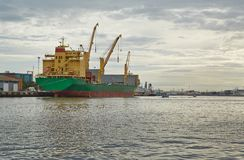 Industrial ships in port Royalty Free Stock Photography