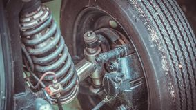 Industrial Shock Absorber Engine Part royalty free stock photos