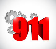 911 industrial sign concept illustration. Design over white Stock Images