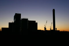 Industrial Silhouette. This image is of the old Fountainbridge Brewery in Edinburgh, Scotland before it was demolished Royalty Free Stock Photos