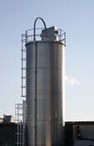 Industrial Silo. Stainless Steel Industrial Silo (Food Grade Stock Images