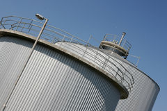 Industrial silo Royalty Free Stock Photo