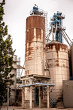 Industrial silo. S in a old rusty inviroment Royalty Free Stock Image