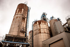 Industrial silo. S in a old rusty inviroment Royalty Free Stock Photos