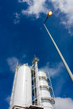 Industrial silos. Towers tank for storage industrial production, stocking material Royalty Free Stock Photo