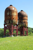 Industrial silos Royalty Free Stock Photography