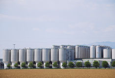 Industrial Silos Stock Image