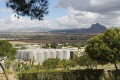 Industrial Silos In Antequera Royalty Free Stock Photo