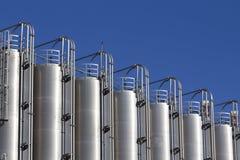 Industrial silos Stock Photos
