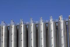 Industrial silos Royalty Free Stock Photos