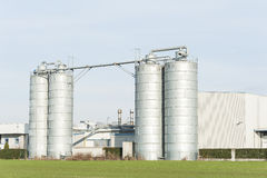 Industrial silos in the chemical industry Stock Photos