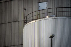 Industrial silos , close up Stock Photo