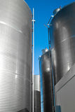 Industrial silos.detail. Industrial metal silos. outdoor. verical Stock Photography
