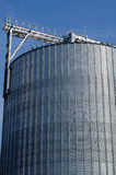 Industrial silos in the field Royalty Free Stock Photography