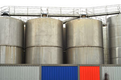 Industrial silos Stock Images