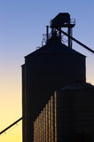 Industrial Silos at Sunset Royalty Free Stock Image