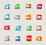 Industrial simply icons Stock Images