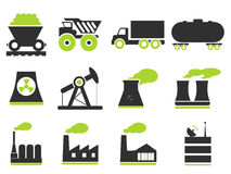Industrial simply icons Royalty Free Stock Photos