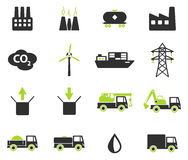 Industrial simply icons Stock Photography