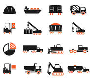 Industrial simply icons Stock Photos