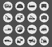 Industrial simply icons Royalty Free Stock Image