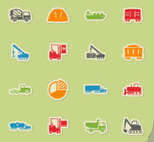 Industrial simply icons Royalty Free Stock Photography