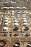 Industrial Site (Aeriel). Aeriel view of a industrial site with storage tanks Stock Photos