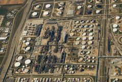 Industrial Site (Ariel). Ariel view of a industrial site Stock Photos