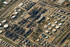 Industrial Site (Ariel). Ariel view of a industrial site Stock Photography