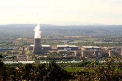 Industrial site in nuclear power Royalty Free Stock Image