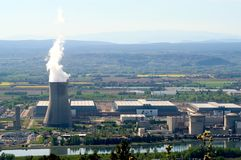 Industrial site in nuclear power Royalty Free Stock Photography