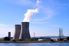 Industrial site in nuclear power Royalty Free Stock Images