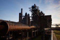 Industry steel iron oven blast furnace factory Landschaftspark, Duisburg, Germany stock photography