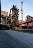 Industry steel iron oven blast furnace factory Landschaftspark, Duisburg, Germany royalty free stock images